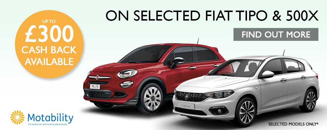 Fiat Motability Cash Back