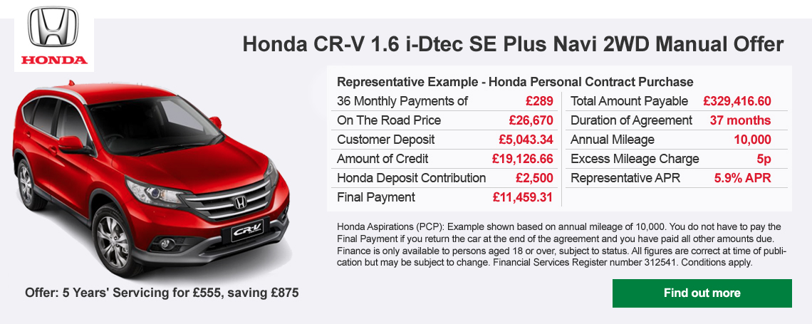 Honda CRV Offer
