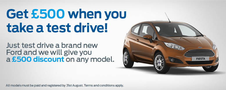 Get £500 for a Ford Test Drive