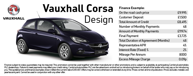 Corsa Design Offer