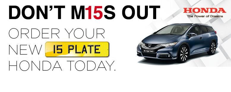 15 Plate Honda