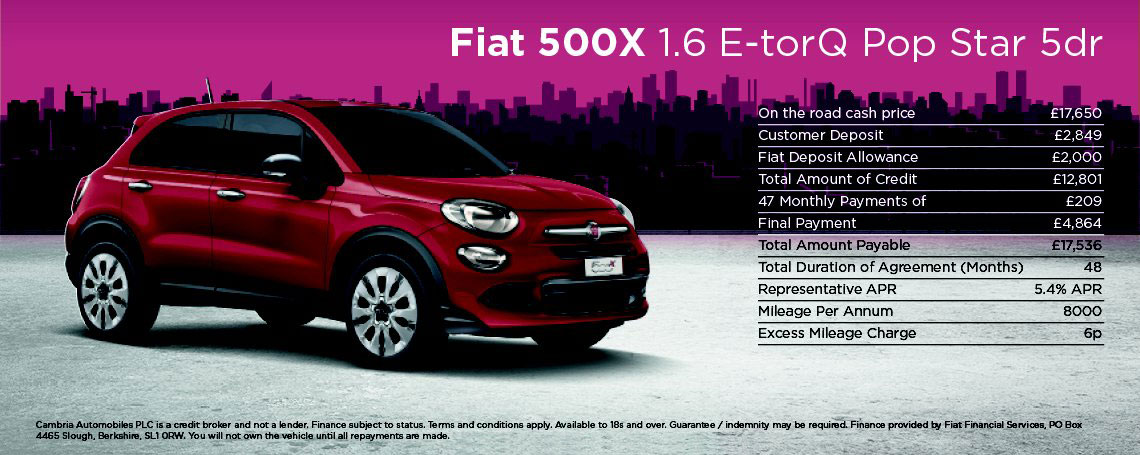 New Fiat 500X Lounge Offer