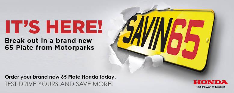 65 Plate Honda Car Deals