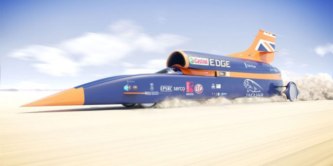 Wing Commander Andy Green is here at the Cambria Automobile conference today and takes to the stage before his 1000mph attempt to break the land speed record