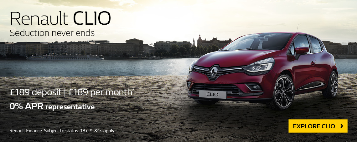 New Renault Clio 2018 Q2 Offer