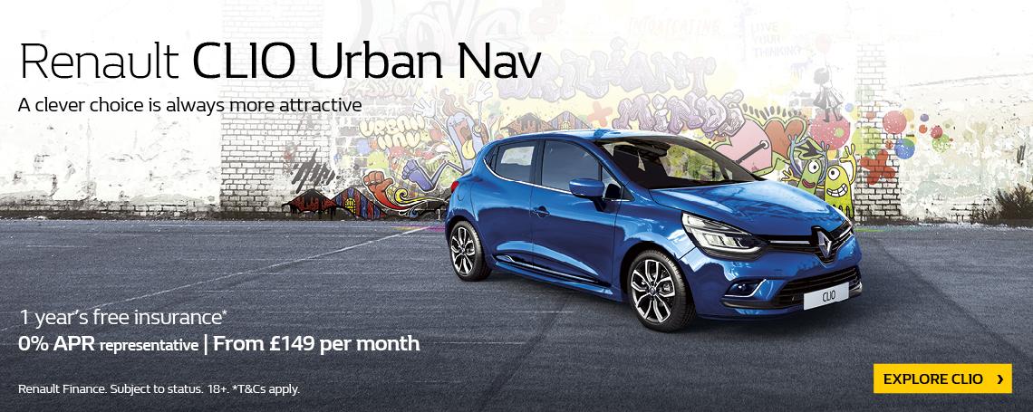 New Renault Clio Urban 2018 Q1 Offer
