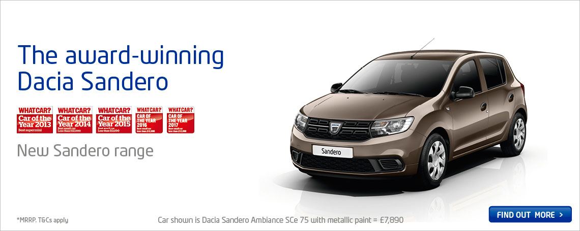 DACIA SANDERO PRICE POINT RANGE