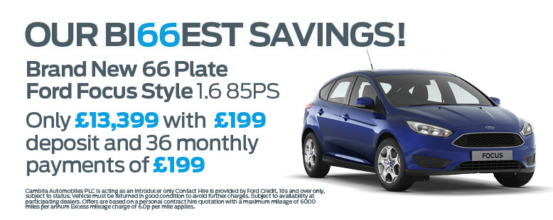 New Ford Focus 16-plate