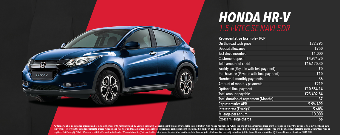 Honda HR-V Offer