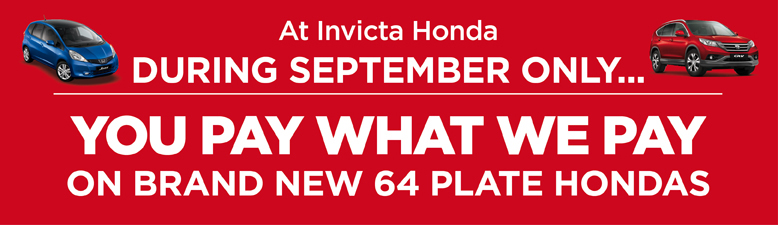 You Pay What We Pay Honda