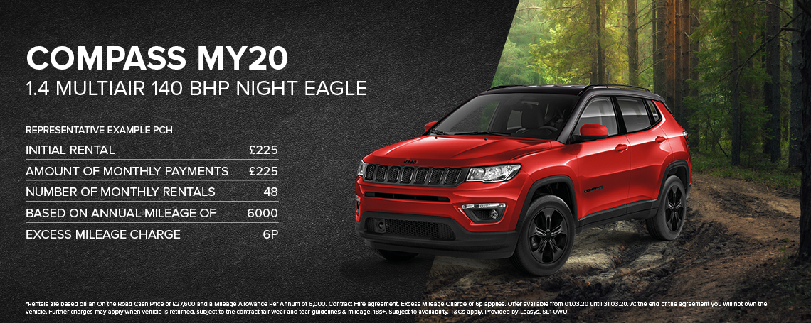 New Jeep Compass PCH Offer
