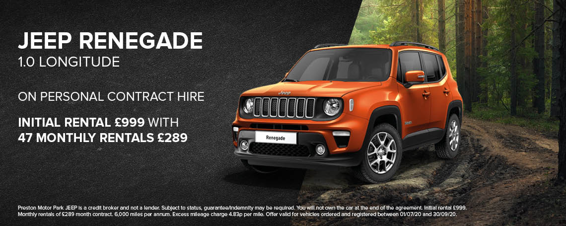 New Jeep Renegade Longitude PCH Offer