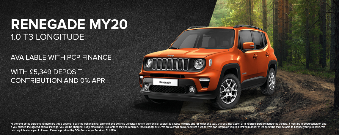New Jeep Renegade PCP Offer