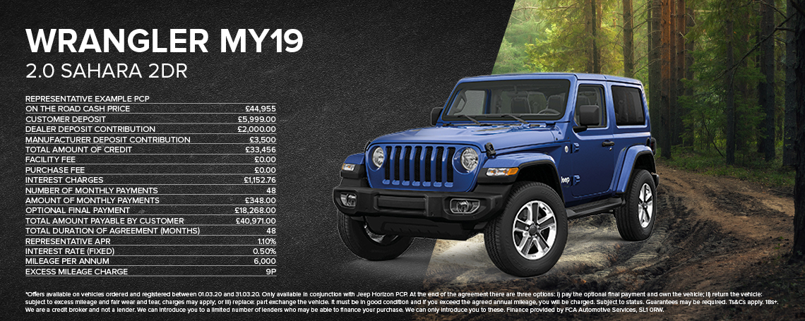 New Jeep Wrangler PCP Offer