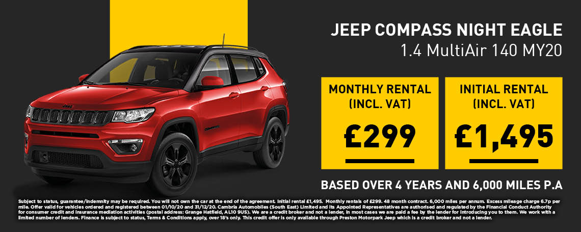 New Jeep Compass PCP Offer