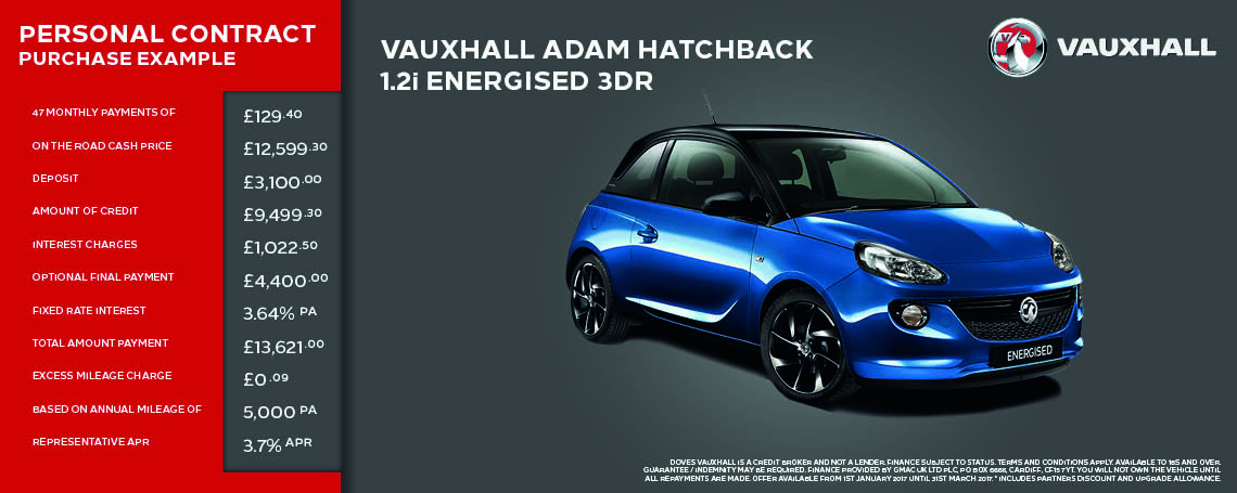 New Vauxhall Adam Offer