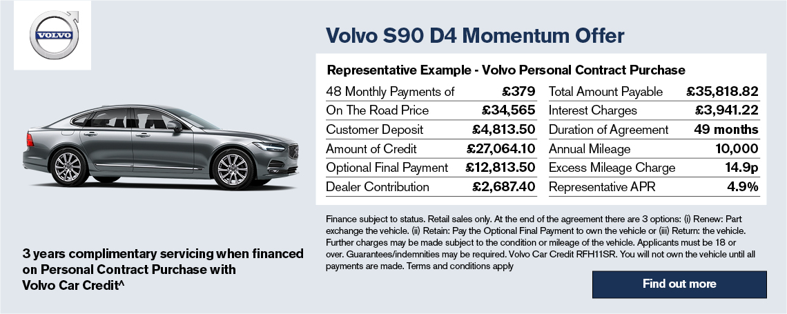 All-New Volvo S90 Offer