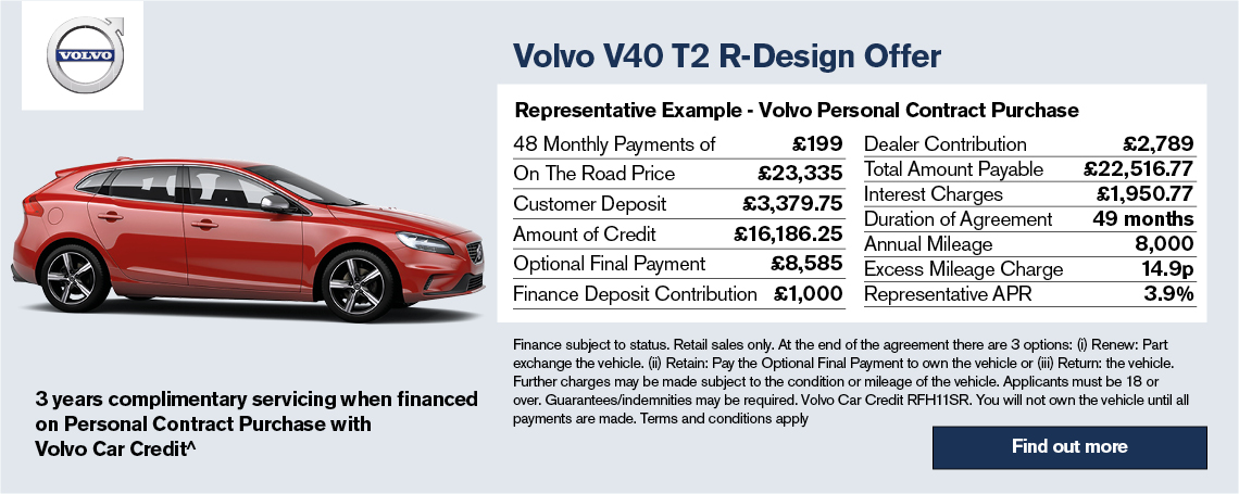 New Volvo V40 Offer