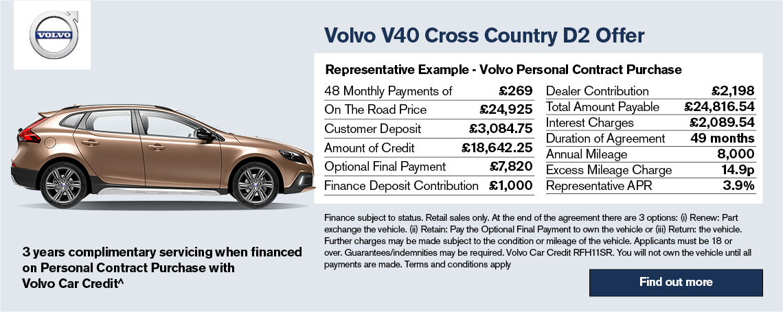 New Volvo V40 Cross Country Offer