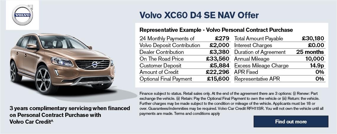 Volvo XC60 PCH Offer