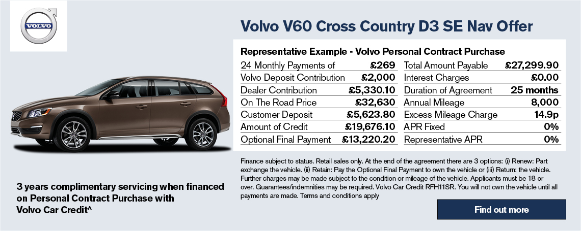 New Volvo V60 Offer