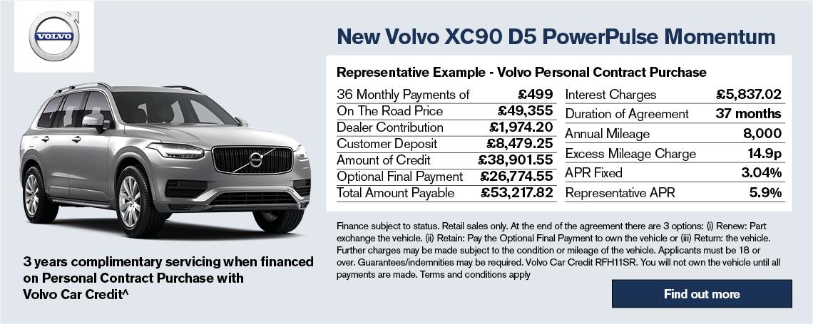 New Volvo XC90 Offer