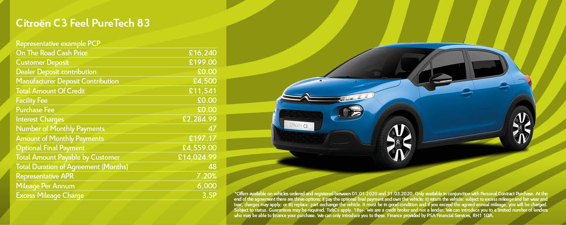 New Citroen C3 Offer