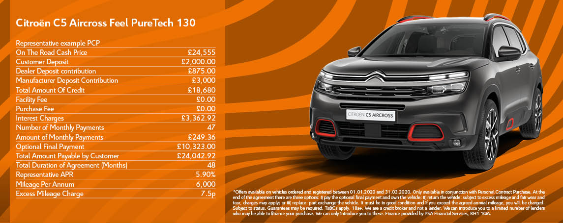 New Citroen C5 Aircross SUV Offer