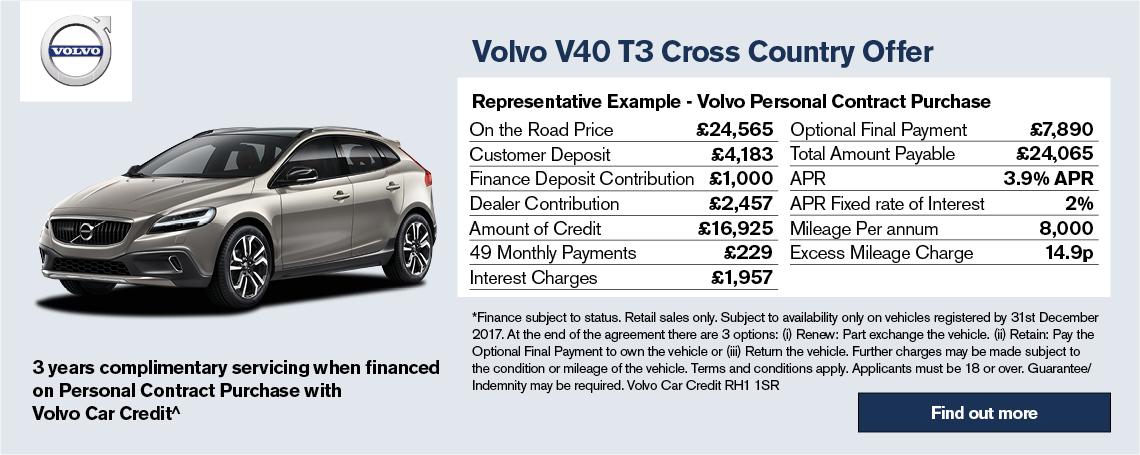 Volvo V40 Cross Country Offer