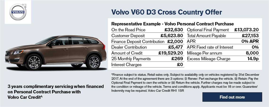 New Volvo V60 CC Offer