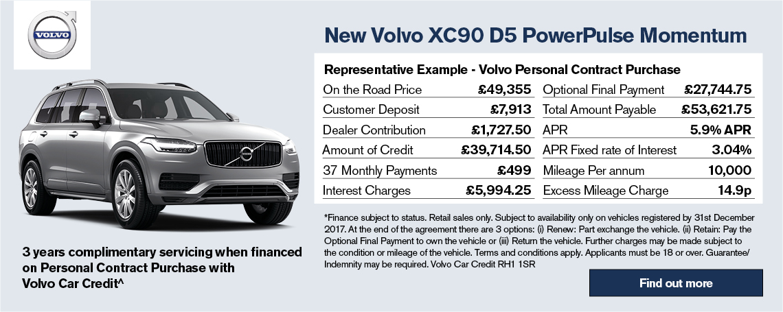 All-New Volvo XC90 Offer