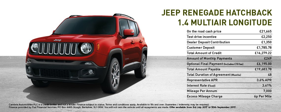 jeep renegade offer my 17