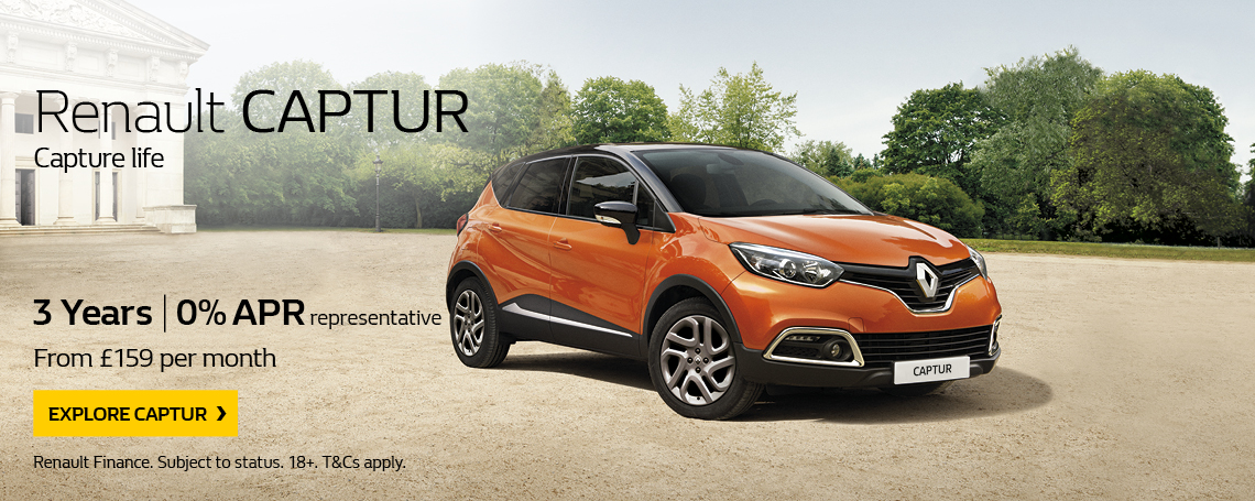 New Renault Captur Offer 2017 Q1