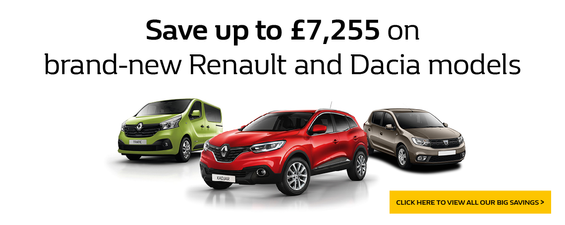 RENAULT DACIA BRAND NEW SAVING OFFER
