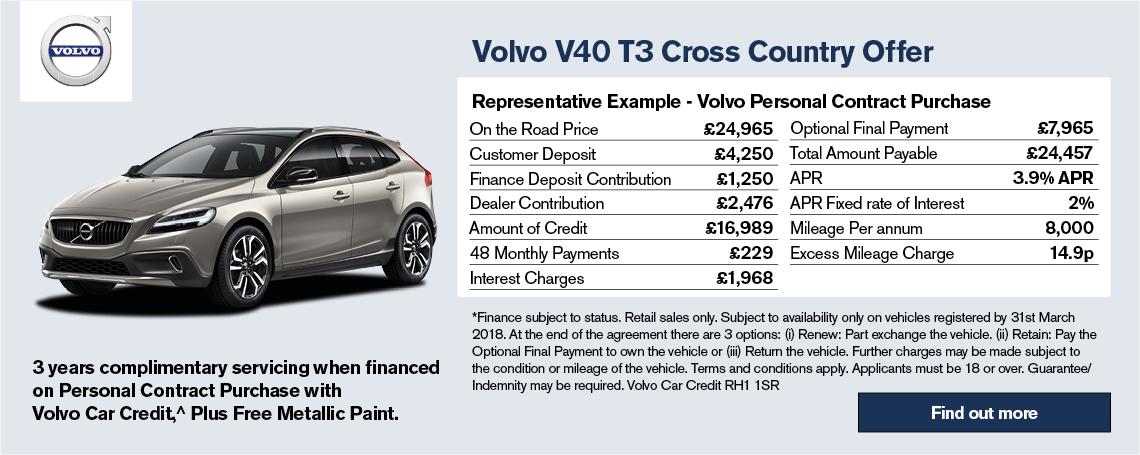 New Volvo V40 Cross Country Offer