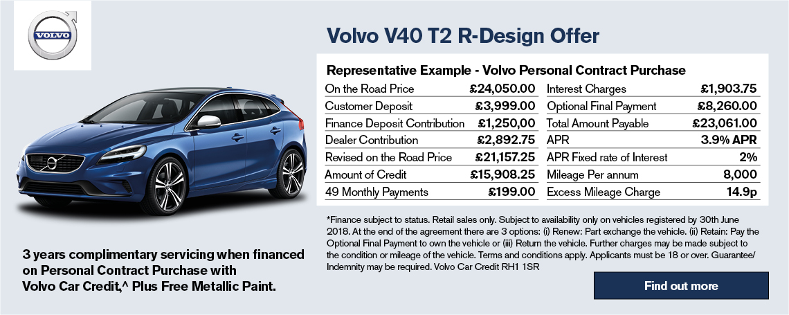 New Volvo V40 Offer