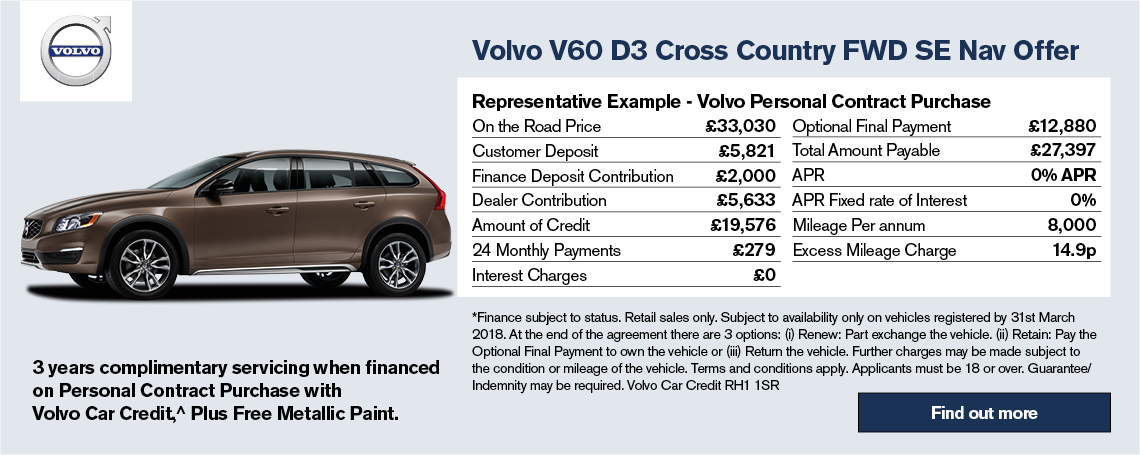 New Volvo V60 CC Offer
