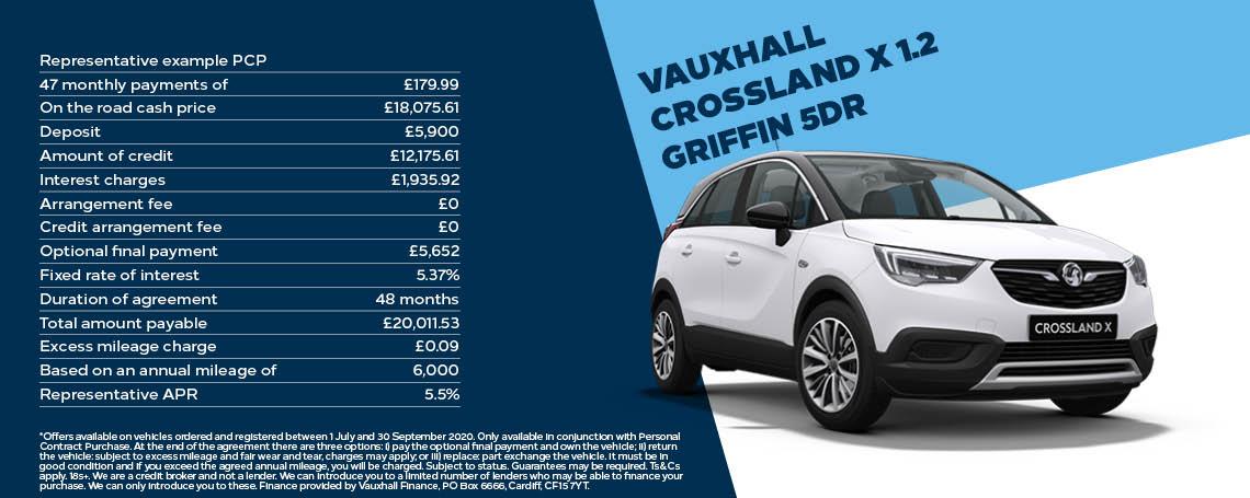 Vauxhall Crossland X 1.2 Griffin Q3 Offer