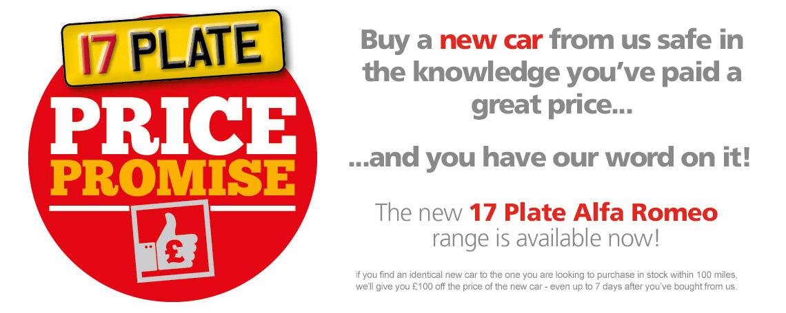 New Alfa Romeo Price Promise
