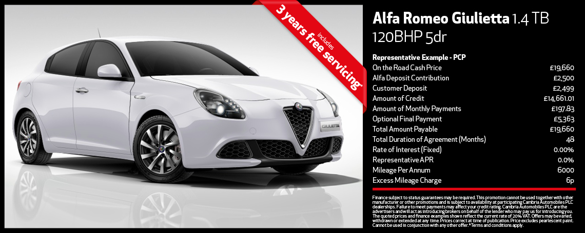 New Alfa Romeo Giulietta Offer