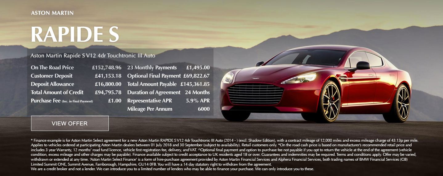 Aston Martin Rapide S Offer