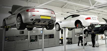 Aston Martin Servicing Motorparks