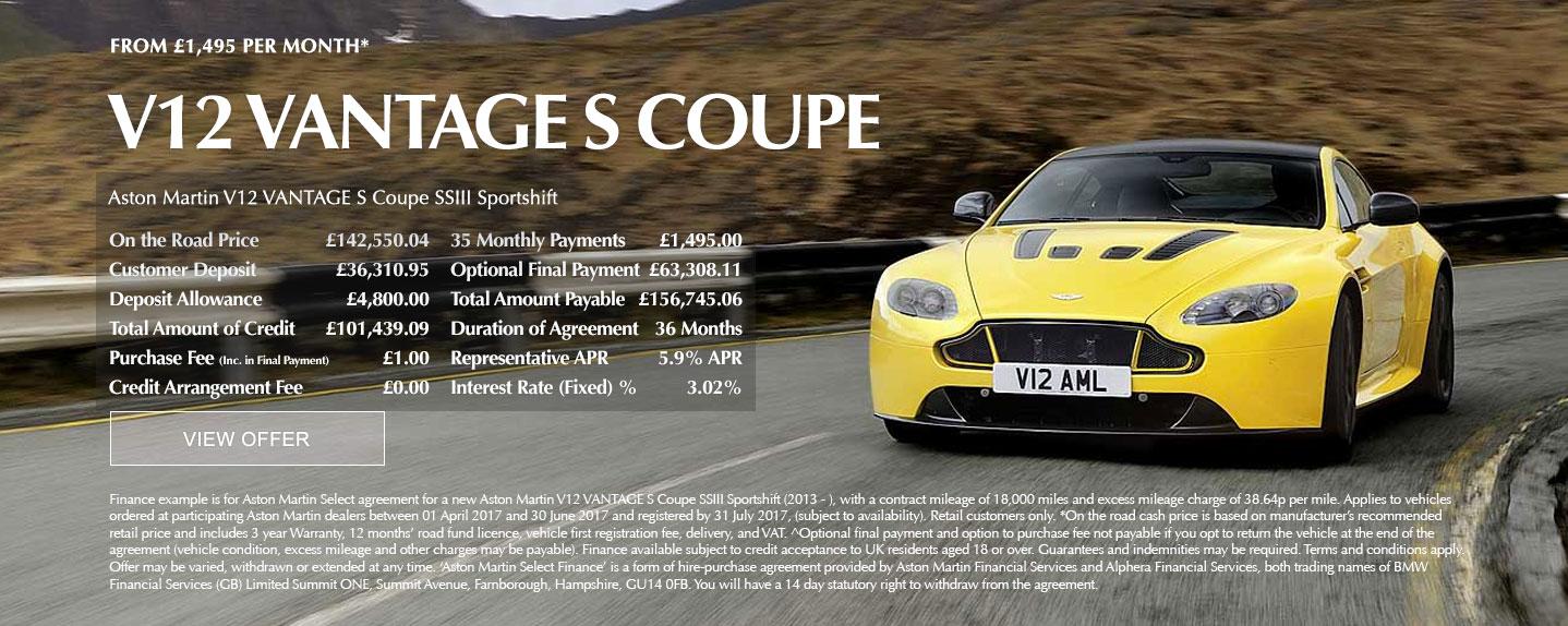 Aston Martin V12 Vantage S Offer