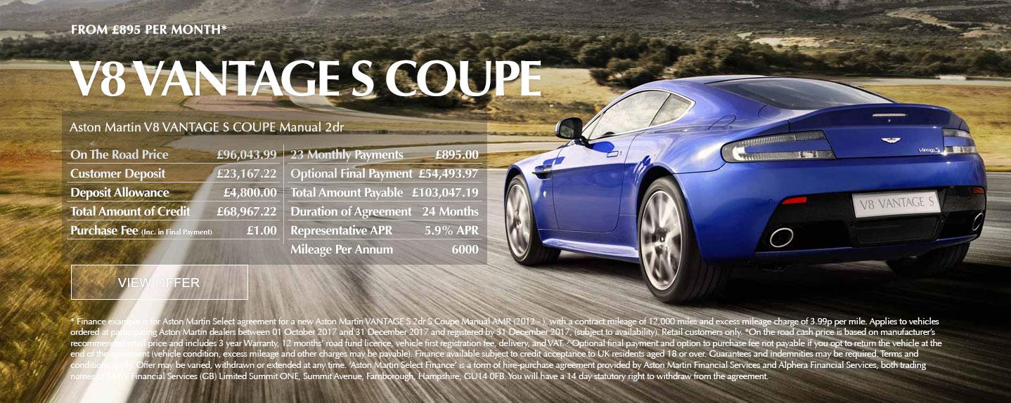Aston Martin V8 Vantage S Offer