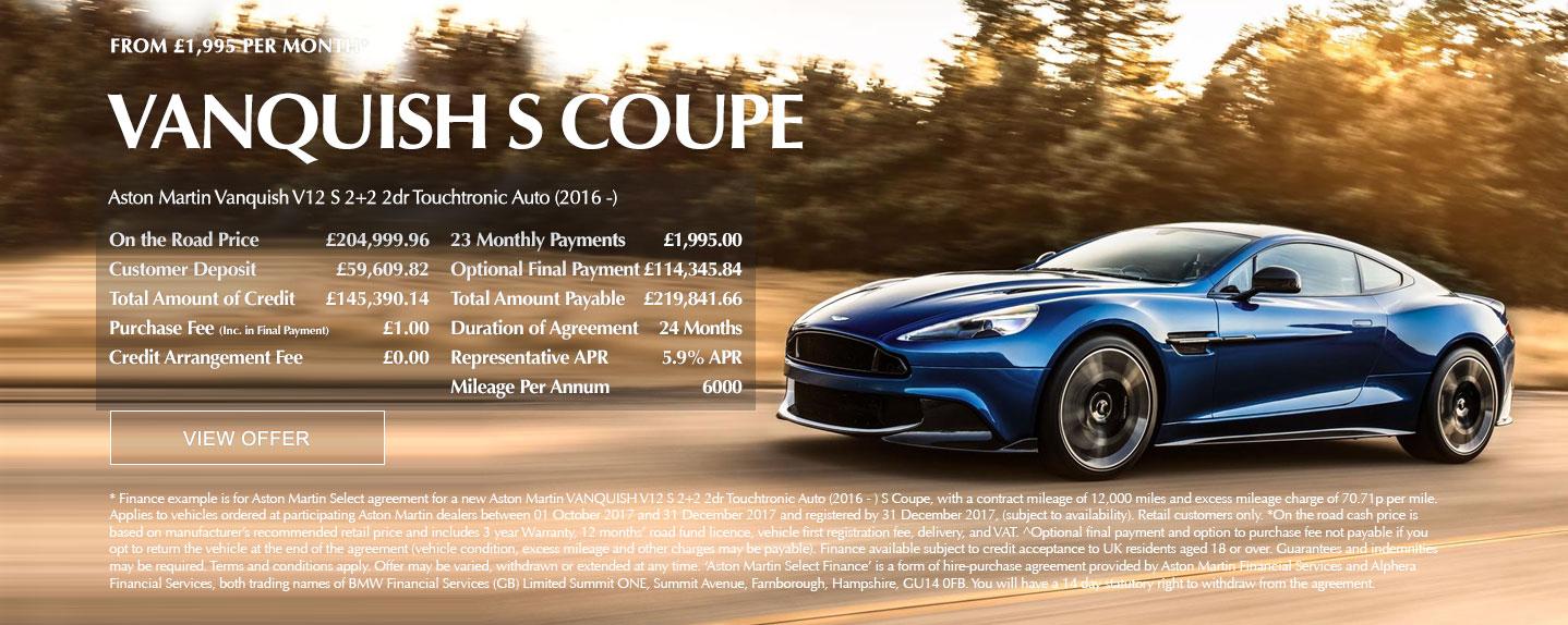 Aston Martin Vanquish S Offer