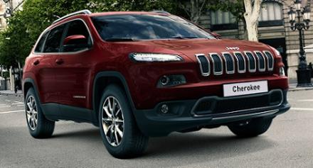 Jeep Cherokee Diesel 2.2 200 Multijet 4WD from £299 per month*