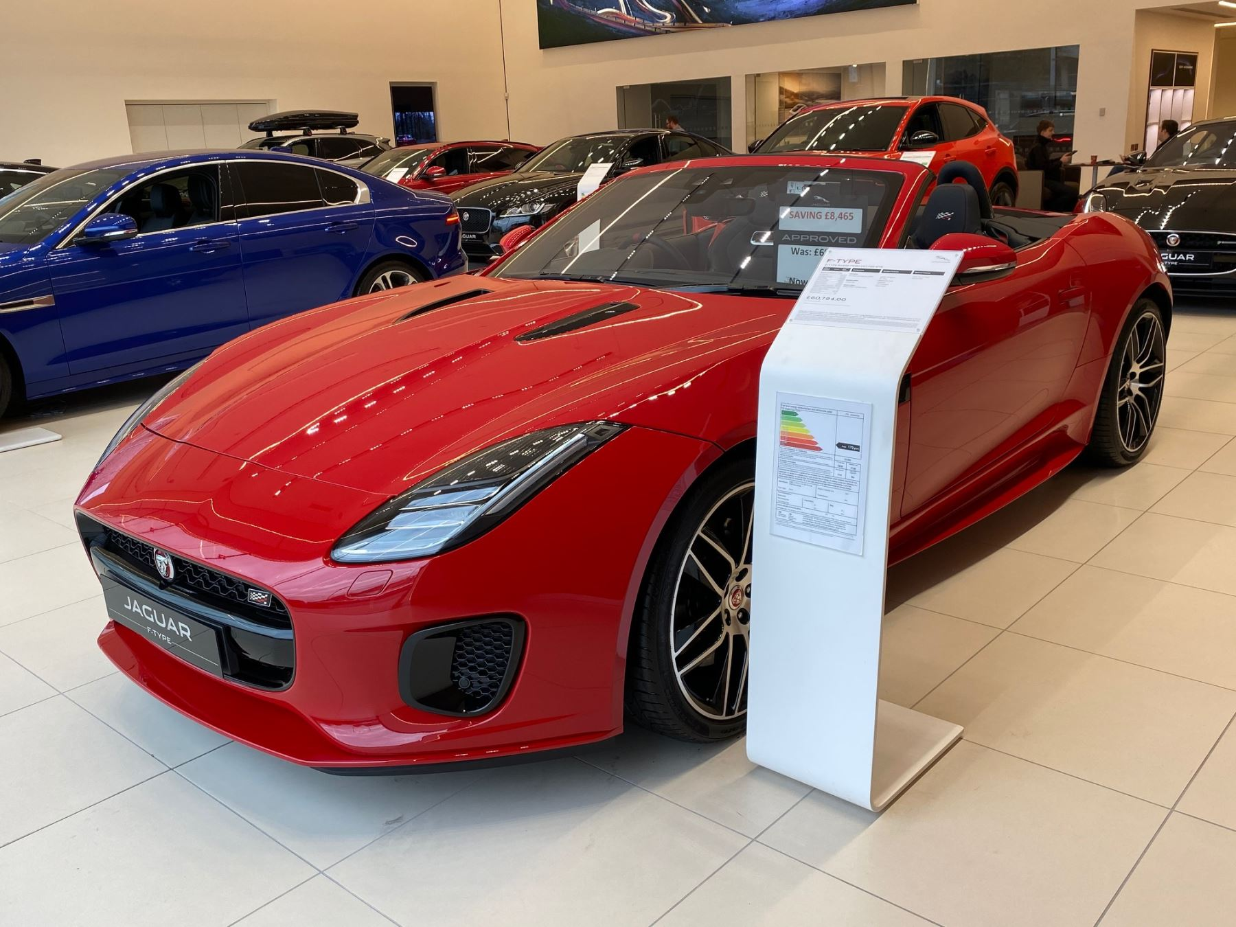 Jaguar F-TYPE 2.0 Chequered Flag 2dr Auto *MANAGERS SPECIAL* Automatic Convertible (2019) image