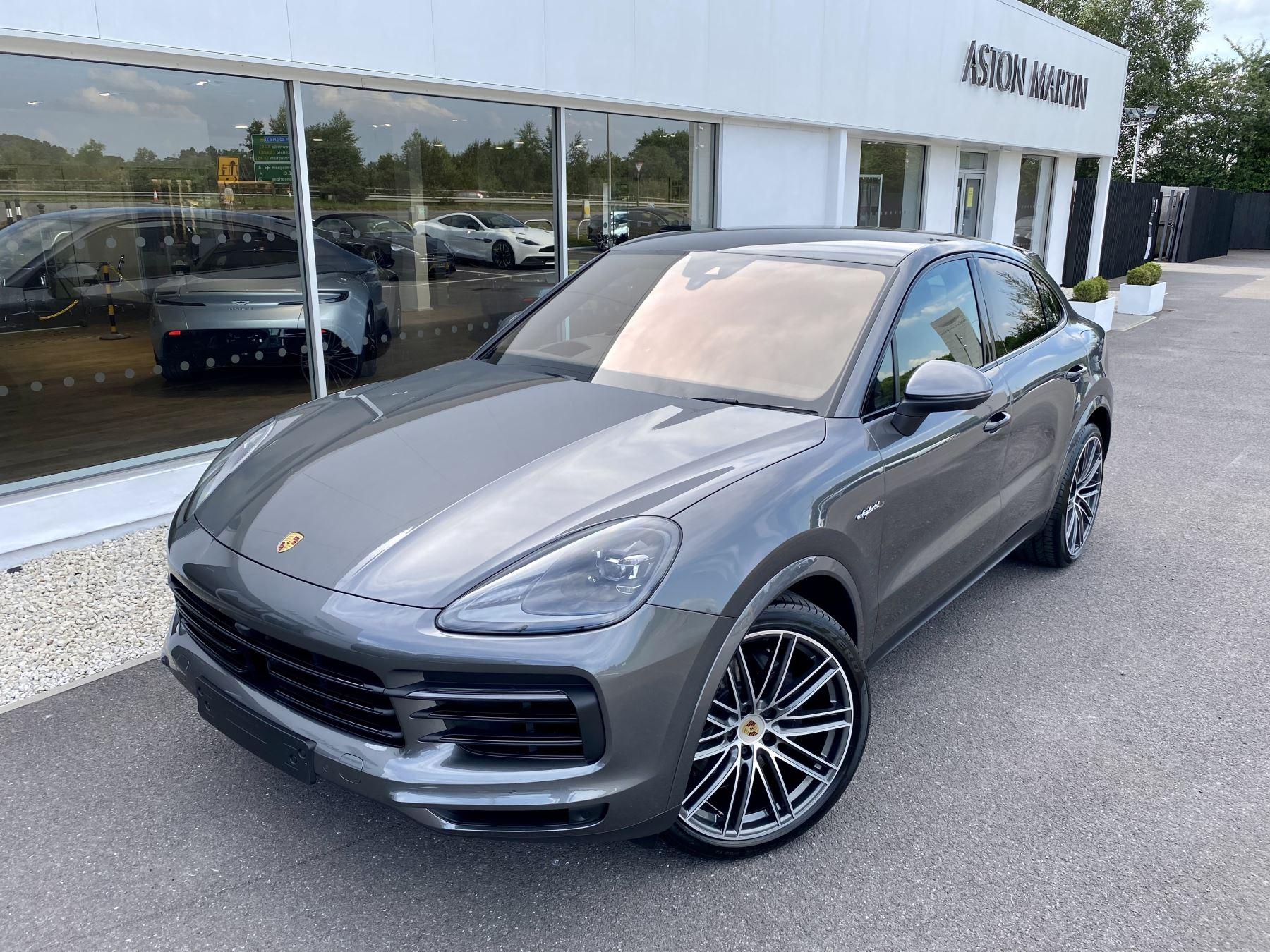 Porsche Cayenne Coupe 3.0 V6 E-Hybrid 5dr Tiptronic S Quartzite Grey and Cohiba brown two tone leather. 2995.0 Petrol/Electric Automatic Estate (2020)