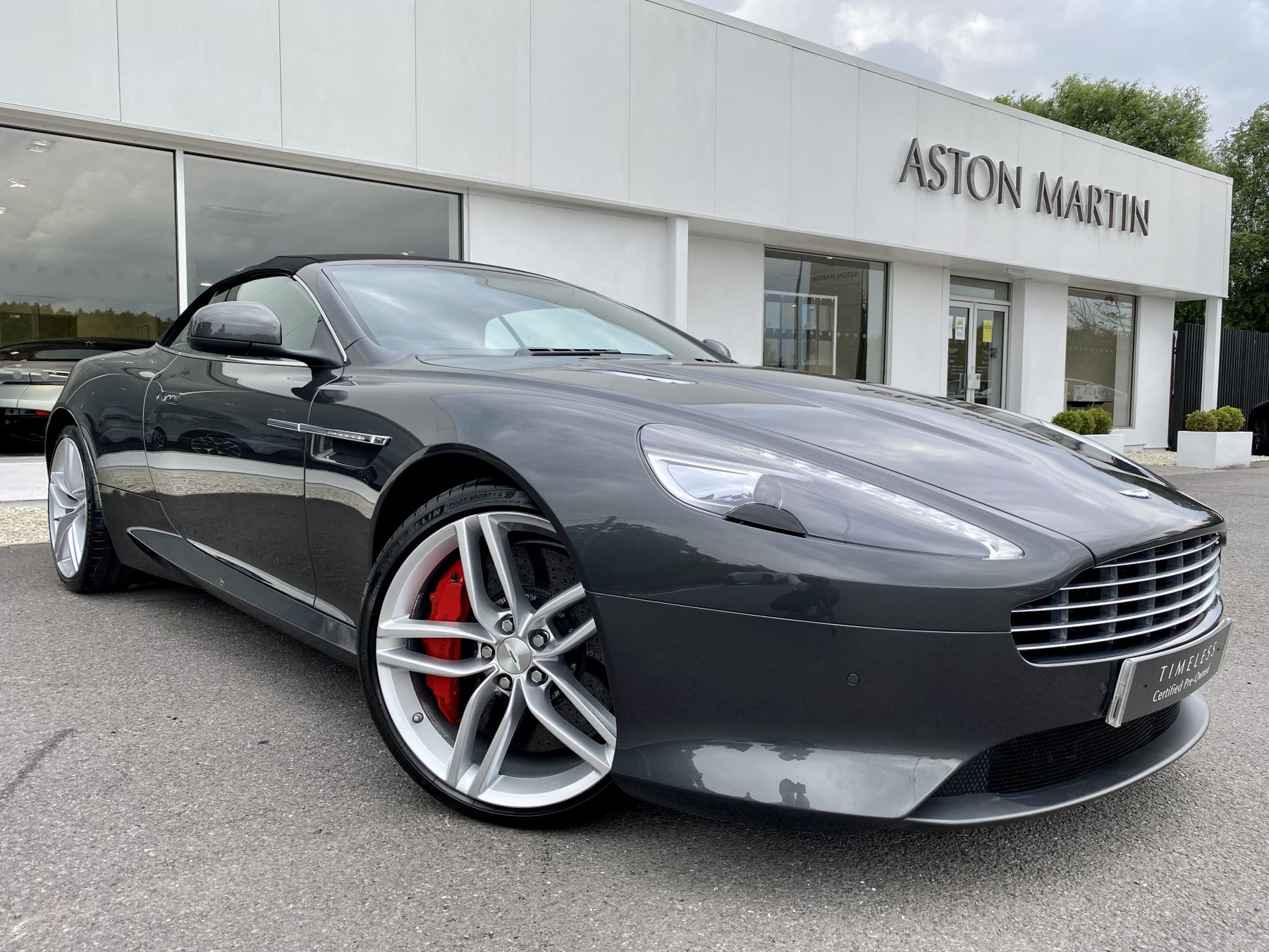 Aston Martin Virage V12 2dr Volante Touchtronic, Very Rare, Meteorite Silver and Obsidian Black Leather Upholstery. 5.9 Automatic Convertible