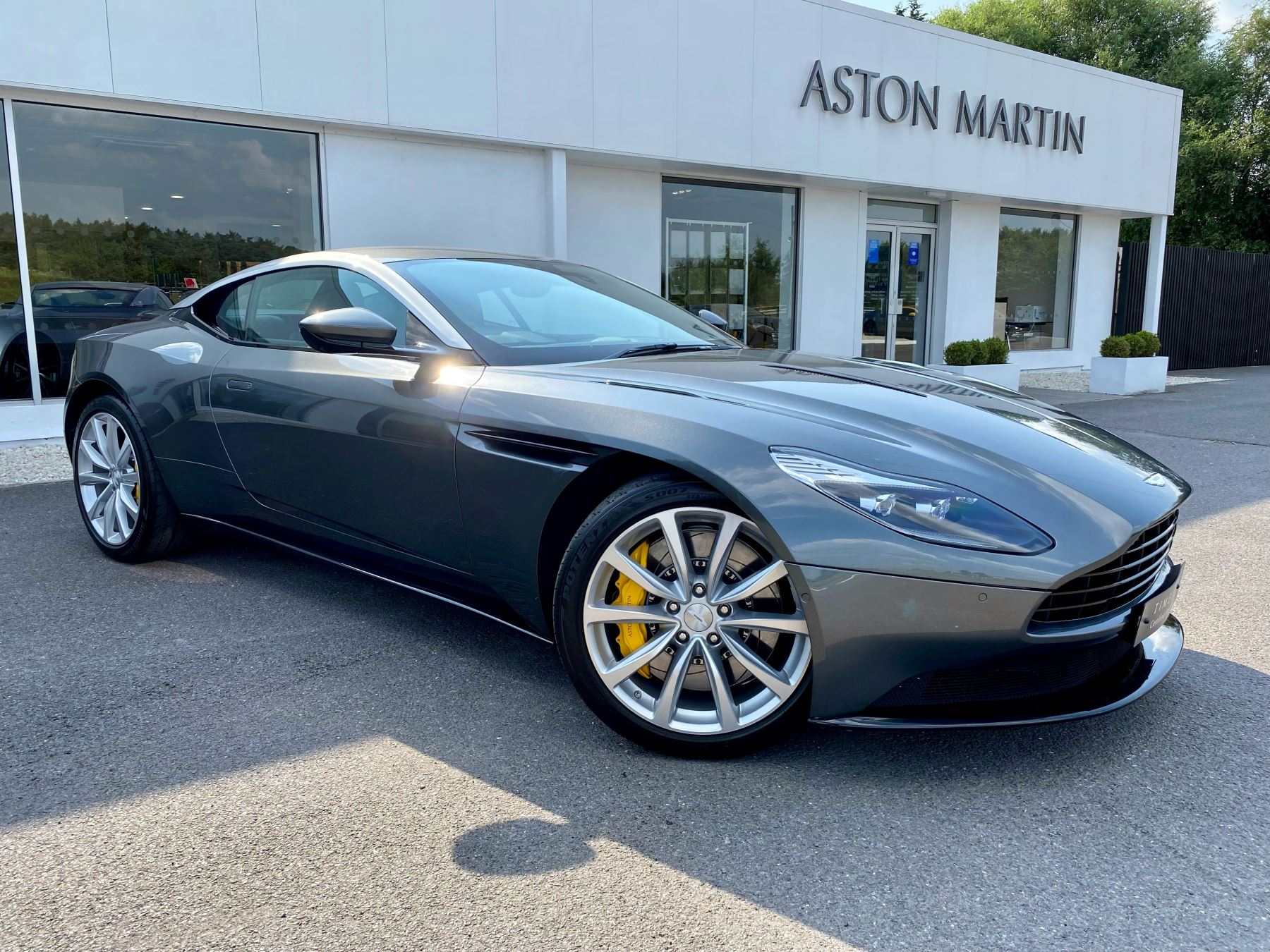 Aston Martin DB11 V12 2dr Touchtronic, Magnetic Silver And Pure Black Leather Upholstery, Two Owners From New. 5.2 Automatic 3 door Coupe (2018) image